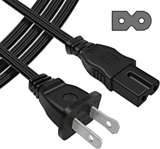 [UL Listed] POWSEED 6Ft 2 Prong Polarized AC Wall Power Cable Cord Plug for Sony PlayStation 1 2 PS1 PS2, Vizio Sharp Sanyo Emerson TV, Arris Router Modem, Bose Companion 3 5 Multimedia Speaker System
