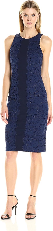 Maggy London Womens Fan Leaf Lace Midi Dress Dress
