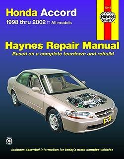 Honda Accord 1998 thru 2002 Haynes Repair Manual: All Models
