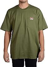 Ben Davis Men's Classic Label Short Sleeve Heavy Duty T-Shirt