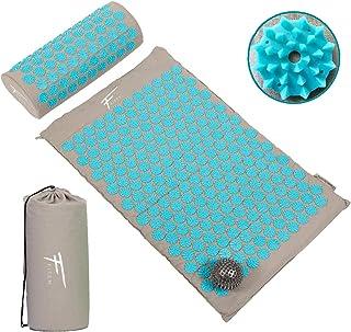 Fitem Kit d'acupression - Tapis d'Acupression + Coussin + Sac + Boule de Massage - Soulage douleurs Dos et Cou - Relaxatio...