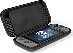Maxboost Nintendo Switch Travel Case, Protective Hard Case with 10 Game Cartridges Slots Holder, Double Zipper Design, Soft Padded Divider Card Bag Case for Nintendo Switch (Black)