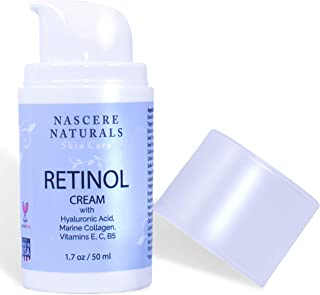 Retinol Face Moisturizer Collagen Face Cream - Retinol Cream with Hyaluronic Acid and Vitamin C, E, B5. - Facial Moisturiz...