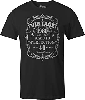 9 Crowns Tees Men's Moto Vintage Aged to Perfection Birthday T-Shirt