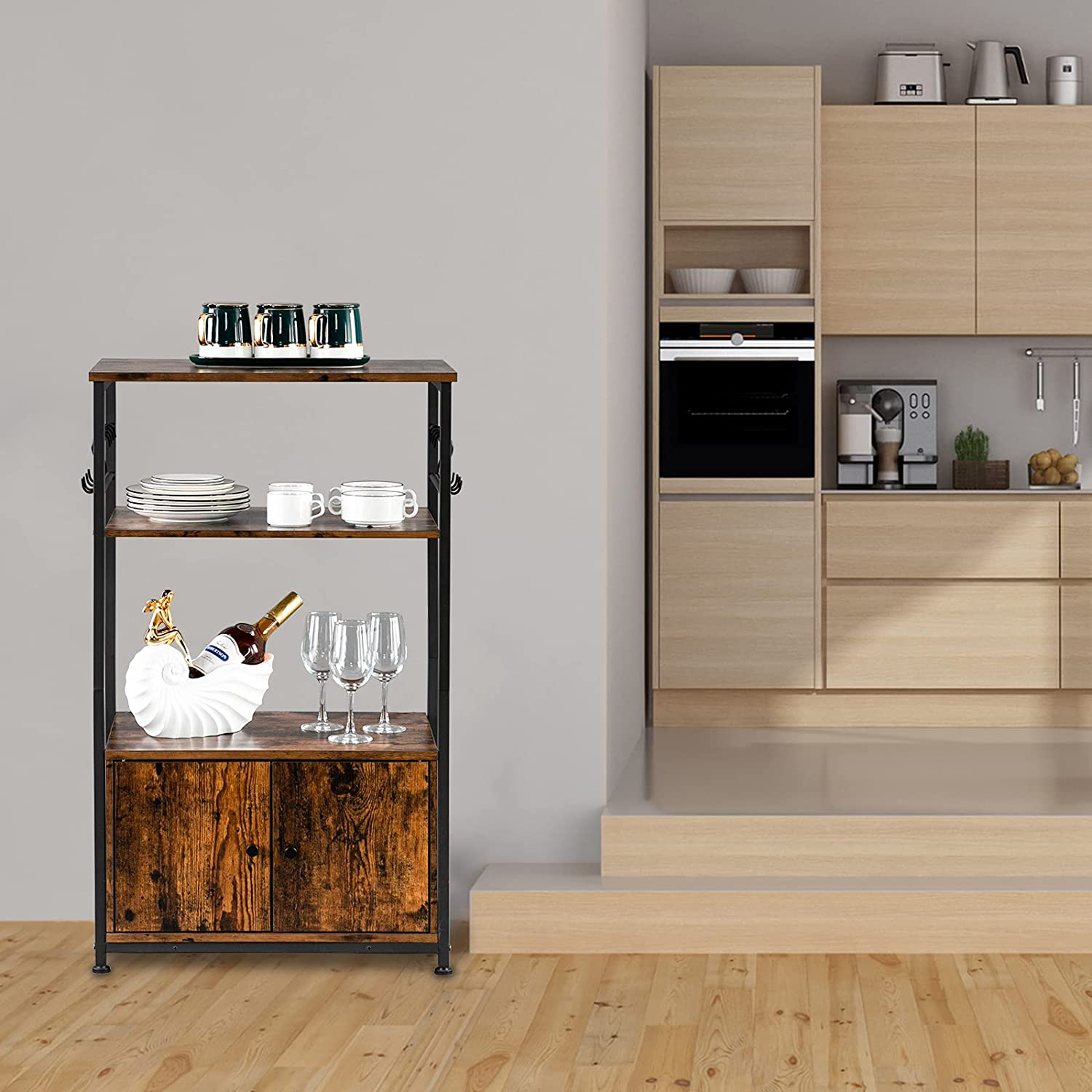 Wooden Kitchen Rack with lowest price Storage 3-Tier Limited price Book Cabinet Industrial