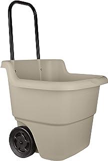 Suncast 2-Wheel Resin Multi-Purpose Cart with Handle – 15.5 Gallon Cart for Garden,..