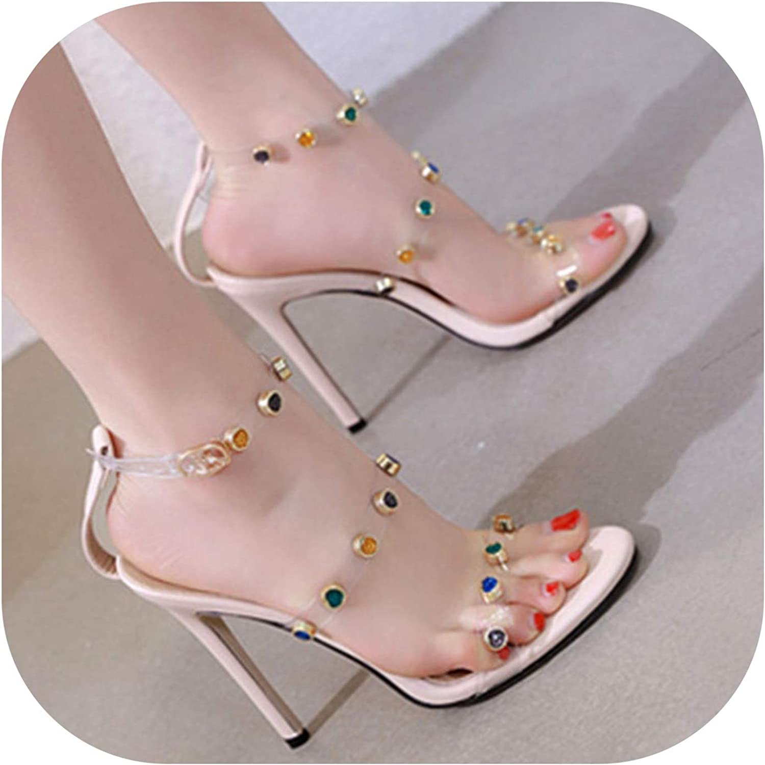 Women's shoes Sandal Slingbacks Rivets Sandals Summer Stiletto Sandals