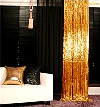 Sequin Backdrop-Gold-3FTX6FT Shimmer Holiday Fabric Backdrops, Sequin Curtains, Drape, Sequin Panels, Gold Home Decor