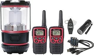 Midland - EX500VP, E+Ready Emergency Kit - EX37VP E+Ready Two-Way Radio Kit with 9 LED Flashlight in a Softshell Carrying Case & ML500 Lumen LED Lantern (Black/Red)
