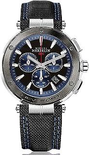 Michel Herbelin Homme 37688/AG65 Chrono Newport 100m Cadran Bleu et Noir 43mm