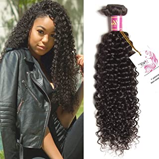 Unice 8A Brazilian Virgin Hair 1 Bundle of Curly Hair Unprocessed Human Hair Weave Extensions Natural Color 95-100g/pc (16inch)