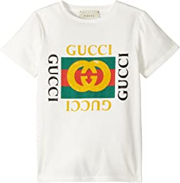 95452125f1d Luxury. White Green Red. 10. Gucci Kids. T-Shirt 475740X3G17 (Little ...