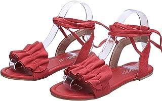 Strawberry Women Sandals 2019 Ruffles Flat Sandals Lace Up Ladies Gladiator Sandals Summer Shoes Sandalia