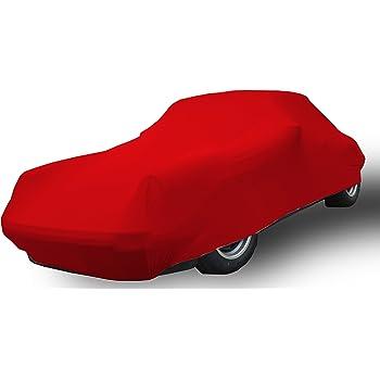 Vollgarage Mikrokontur/® Rot f/ür Fiat 1500 Spider hochwertige Abdeckplane als praktische Auto-Vollgarage sch/ützende Autoabdeckung mit perfekter Passform