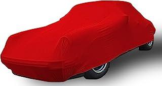 Car e Cover, Autoschutzdecke 'Perfect Stretch', elegant formanpassend, atmungsaktiv für den Innenbereich Farbe Rot