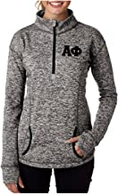 Alpha Phi Quarter Zip with Stitched Greek Letters (Alpha Phi Clothing)