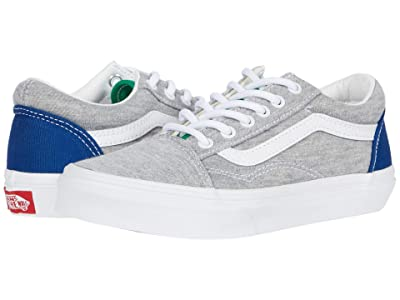 Vans Kids Old Skool (Little Kid) ((Vans Coastal) Grey/True White) Boys Shoes