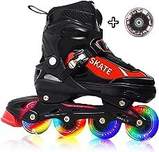 Hiboy Adjustable Inline Skates with All Light up Wheels, Outdoor & Indoor Illuminating Roller Skates for Boys, Girls, Beginners …