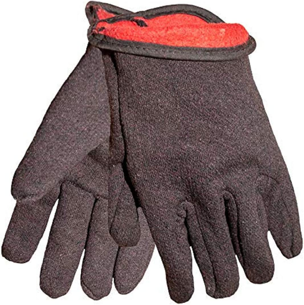 Bargain sale GF Gloves 4414-144 Brown Jersey Red Work with Recommended Winter Flee