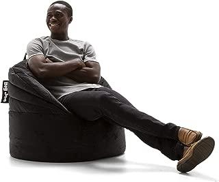 Big Joe Stack Chair, Black Plush Bean Bag