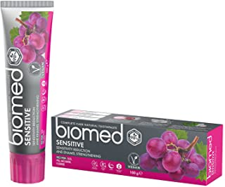 BIOMED Sensitive fluoridfri tandkräm mot känsliga tänder med 99 % naturliga innehållsämnen, 100 g
