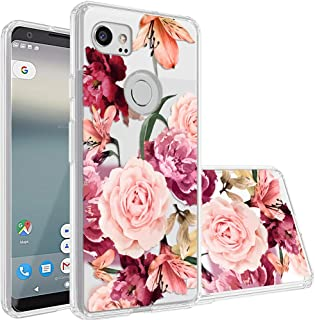 Google Pixel 2 XL Case,Topnow [Anti-Scratch PC + Shockproof Anti-Drop Soft TPU] Advanced Printing Pattern Phone Cases Glossy Drawing Design Cover for Google Pixel 2 XL(Roses Cluster)