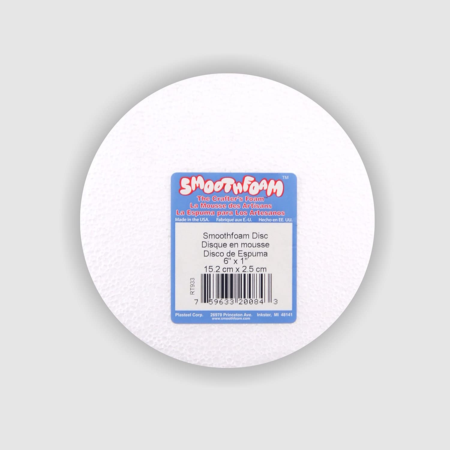 Bulk Sale Special Price safety buy: 12 pack - 6 Smooth in Foam Disc Brand Plasteel