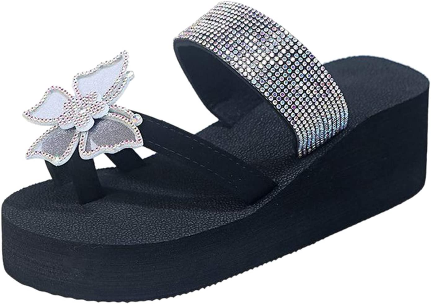 Fullwei Sandals for Ranking TOP8 Women Casual Bunion Wedge Large-scale sale Rhinestone S