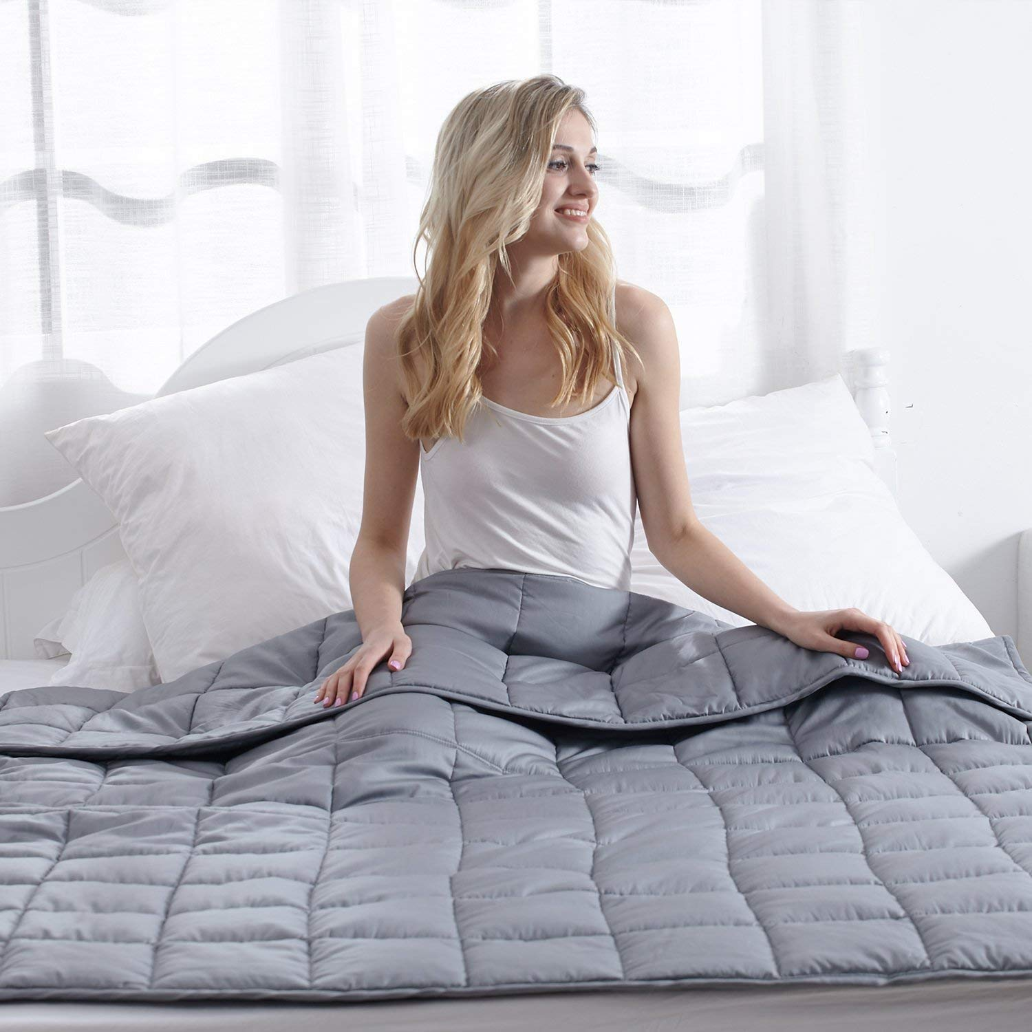 Waowoo Weighted Blanket Size%EF%BC%8815lbs Premium