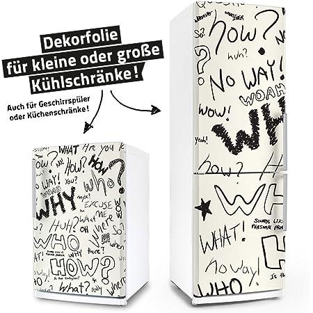 Motiv: Steinstapel in schwarz mit Blumenbl/üte in lila Selbstklebende Folie Wallario Sticker//Aufkleber f/ür K/ühlschrank//Geschirrsp/üler//K/üchenschr/änke 60 x 60 cm