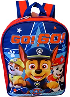 Paw Patrol Boys 15 School Backpack, Red-Blue, Size One_Size