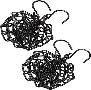 قطعتان من Bytiyar 3.2 قدم (100 سم) سلسلة معدنية متصلة حلقة كابل مع S خطاطيف Ligth Duty Coil Chain لإقفال تعليق سحب أسود