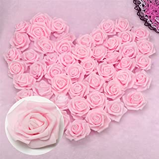Happyyous 200PCS Artificial Roses Flowers Heads, Fake Silk Roses Heads For DIY Wedding Bouquets Centerpieces Arrangements Party Baby Shower Home Decorations - 3X1.4X3in