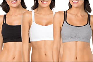 Fruit of the Loom Women's Spaghetti Strap Cotton Pullover Sports Bra