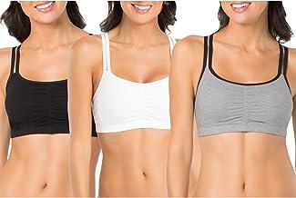 سینه بند سینه بند پیراهن کش ورزش پنبه زنانه (بسته 3)