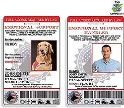 XpressID Holographic Emotional Support Dog & Handler ID Card   Includes Registration to National Dog Registry