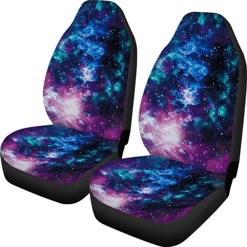 CLOHOMIN Purple Galaxy Native American Indian Talisman Dream Catcher Feathers Colorful Print Car Seat Covers Front Seat Only Full Set of 2,Bohemian Style Universal Fit for Car Truck SUV