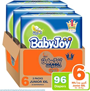 Babyjoy Cullotte Pants Diaper,  Jumbo Pack Junior XXL Size 6, Count 96, 16+ KG