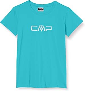 CMP Girls' Stretch T-Shirt Monochrome mit Logo 30D6665P