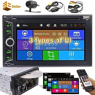 ダブル2ディンカーAutoradioステレオヘッドユニット6.2インチの容量性スクリーン車DVD CDプレーヤーMP3のMP4のUSB TFカードAM FM RDSラジオ3 UIオプションのBluetooth AUXサブウーファー+無料のワイヤレスリアカメラ付き