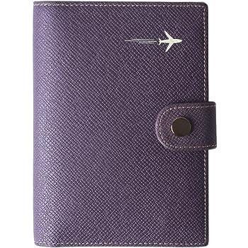 Window Silhouette Dark Leather Passport Holder Cover Case Travel One Pocket