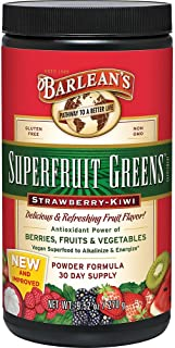 Barlean's Superfruit Greens, Strawberry Kiwi 9.52-oz
