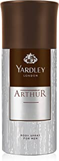 Yardley Arthur Body Spray for men, classic aromatic refreshing scent, formal fragrance, 150 ml