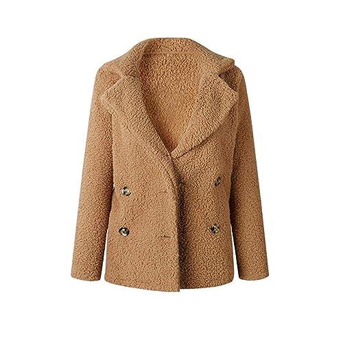 662c7639cc9f Famulily Women's Winter Warm Open Front Fleece Fluffy Jacket Coat Outwear  with Pockets