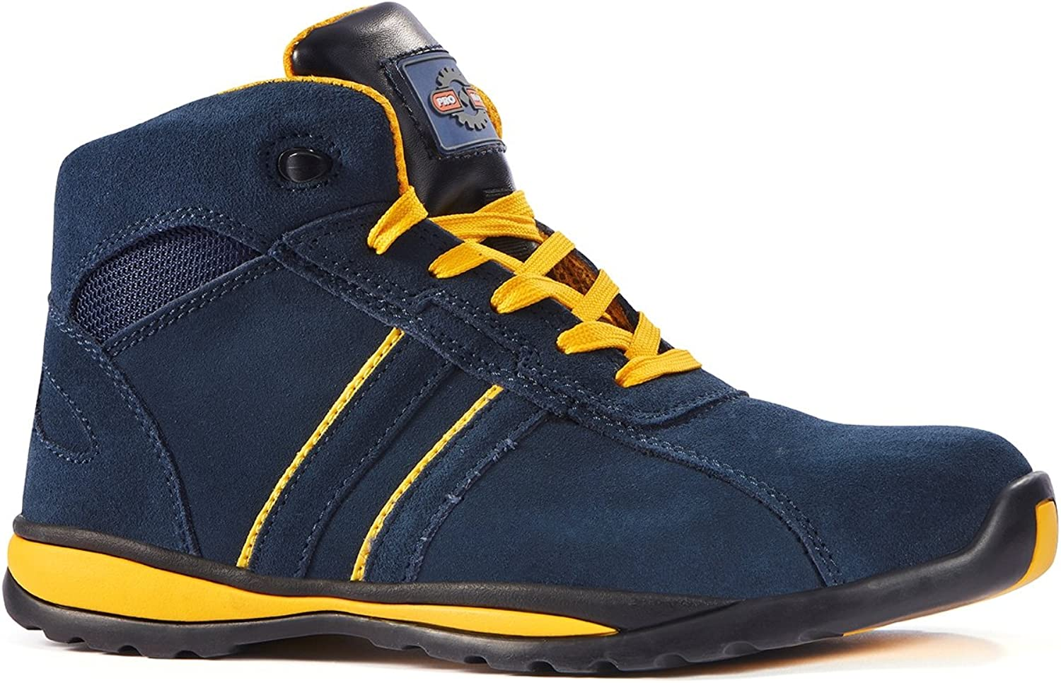 Rock Fall Pro Man Seattle S1P SRC bluee Yellow Steel Toe Cap Boxing Safety Boots