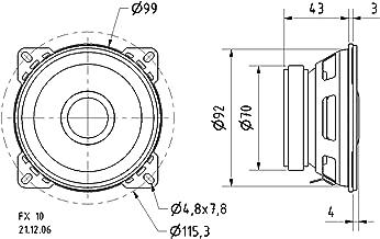Visaton 2 Way Coaxial Speaker 10cm 40w 4 Ohm [VS-FX10/4]