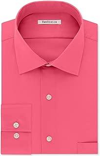 Van Heusen Mens Stretch Flex Button Up Dress Shirt, Pink,...