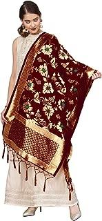 TMS Indian Bridal Wedding Pakistani Banarasi Women Woven Cotton Silk Veil Dupatta Stole Chunni Shawl Scarf