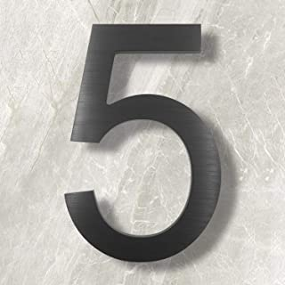 floating metal house numbers
