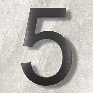 floating metal house numbers
